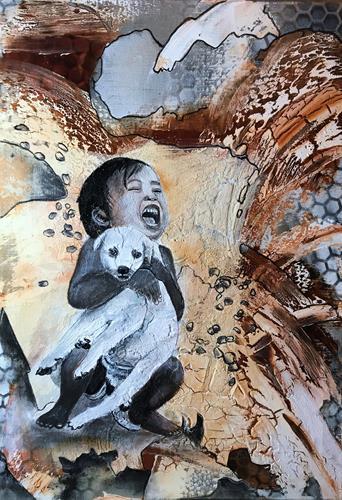 Ursi Goetz, Mein Hündchen, Menschen: Kinder, Abstraktes, Aktionskunst