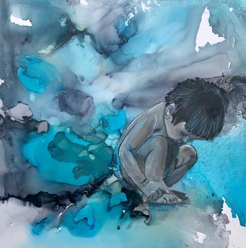 Ursi Goetz, In ihrer eigenen Welt, Menschen: Kinder, Abstraktes, Gegenwartskunst