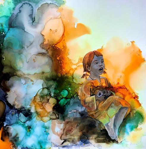 Ursi Goetz, Alice im Wunderland, Menschen: Kinder, Abstraktes, Aktionskunst