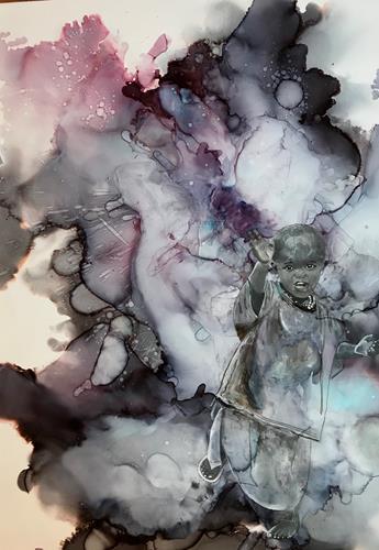 Ursi Goetz, Frei sein, Menschen: Kinder, Abstraktes, Abstrakte Kunst, Expressionismus