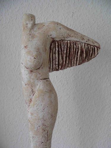 Renate Migas, Traum vom Fliegen, Akt/Erotik: Akt Frau, Fantasie, Gegenwartskunst, Abstrakter Expressionismus