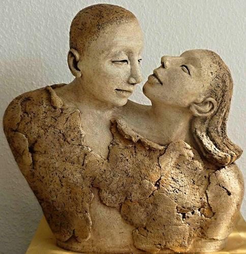 Renate Migas, Verbundenheit, Gefühle: Geborgenheit, Menschen: Paare, Gegenwartskunst, Expressionismus