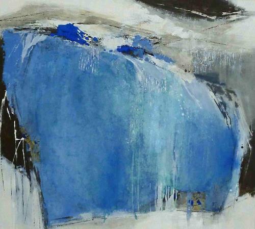 Renate Migas, Erinnerung III, Landschaft, Natur: Wasser, Abstrakte Kunst, Abstrakter Expressionismus