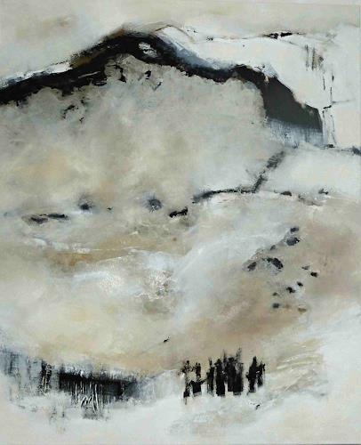 Renate Migas, Hauch der Stille, Abstraktes, Landschaft: Berge, Gegenwartskunst, Expressionismus