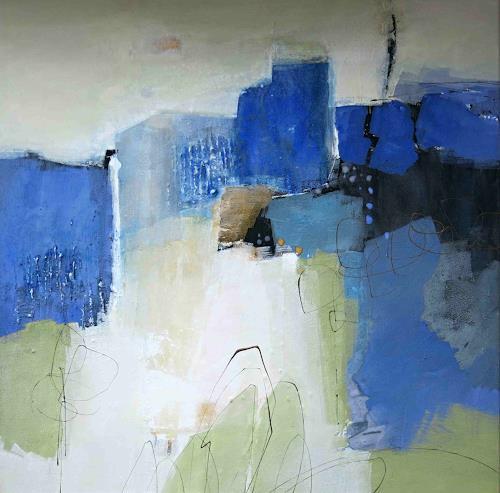 Renate Migas, Abendspaziergang, Poesie, Landschaft, Gegenwartskunst, Expressionismus