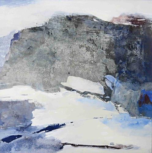 Renate Migas, Zerklüftet, Landschaft: Berge, Landschaft: Winter, Gegenwartskunst, Expressionismus