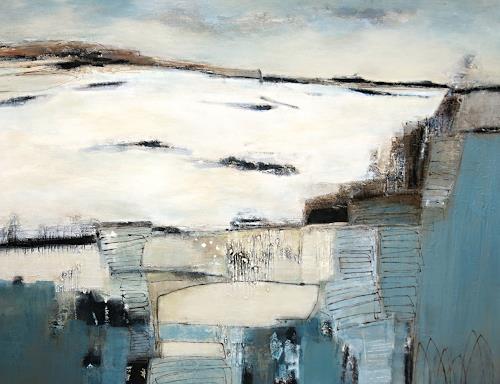 Renate Migas, Winter am Strom, Natur: Wasser, Poesie, Gegenwartskunst, Expressionismus