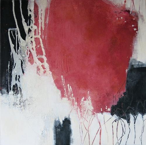 Renate Migas, Umfangene Wärme, Natur: Feuer, Poesie, Gegenwartskunst, Abstrakter Expressionismus