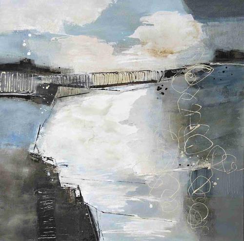 Renate Migas, Waiting, Natur: Wasser, Poesie, Gegenwartskunst, Abstrakter Expressionismus