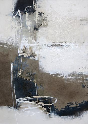 Renate Migas, Strukturen vor Schwarz I, Natur: Erde, Poesie, Gegenwartskunst, Abstrakter Expressionismus