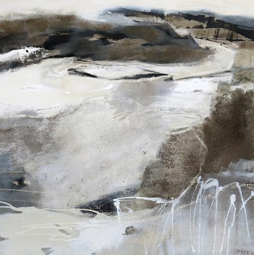 Renate Migas, Grauzone, Landschaft, Poesie, Gegenwartskunst, Expressionismus