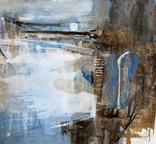 Renate Migas, Mondflüstern I, Landschaft: Winter, Poesie, Gegenwartskunst, Expressionismus