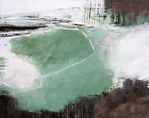 Renate Migas, Grünklang, Landschaft, Poesie, Gegenwartskunst, Expressionismus
