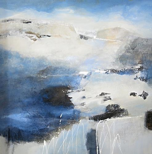 Renate Migas, Letzte Melodie, Landschaft: Winter, Poesie, Gegenwartskunst, Expressionismus