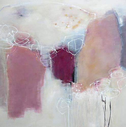 Renate Migas, Zaubergarten, Landschaft: Winter, Poesie, Gegenwartskunst, Expressionismus