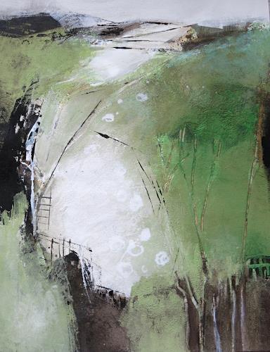 Renate Migas, behind the forest, Symbol, Poesie, Gegenwartskunst, Expressionismus
