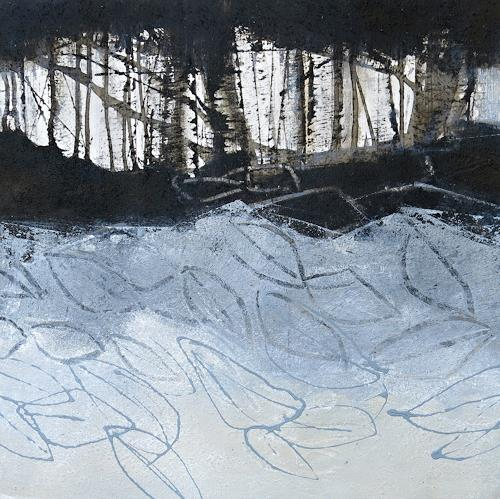 Renate Migas, o.T., Landschaft: Herbst, Poesie, Gegenwartskunst, Abstrakter Expressionismus