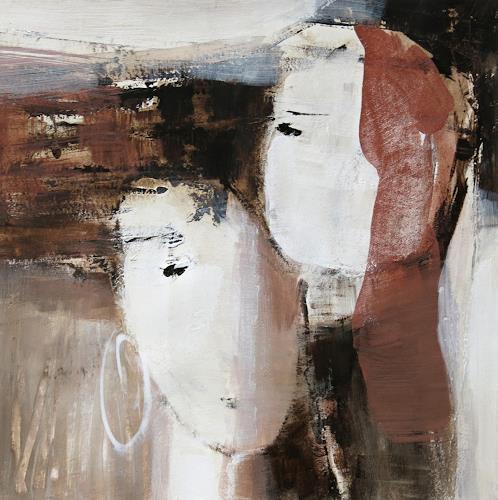 Renate Migas, o.T., Diverse Gefühle, Poesie, Gegenwartskunst, Expressionismus