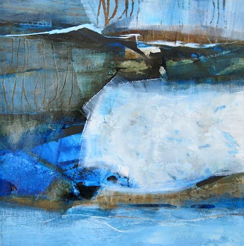 Renate Migas, Scheinbar Blau-III, Natur, Poesie, Gegenwartskunst, Expressionismus