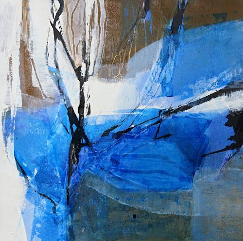 Renate Migas, Scheinbar Blau-IV, Natur, Poesie, Gegenwartskunst, Abstrakter Expressionismus