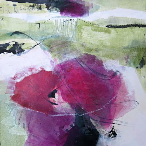 Renate Migas, Bougainvillea, Natur, Poesie, Gegenwartskunst, Abstrakter Expressionismus