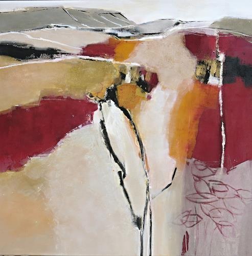 Renate Migas, Herbstwind, Landschaft: Herbst, Poesie, Gegenwartskunst, Expressionismus