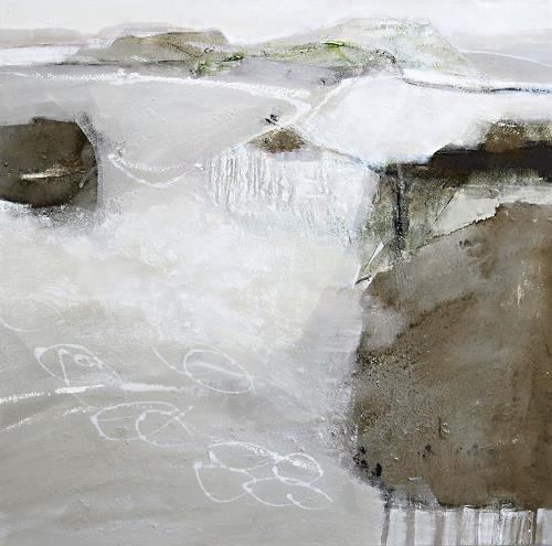 Renate Migas, Weiße Stille, Landschaft: Winter, Poesie, Gegenwartskunst, Expressionismus