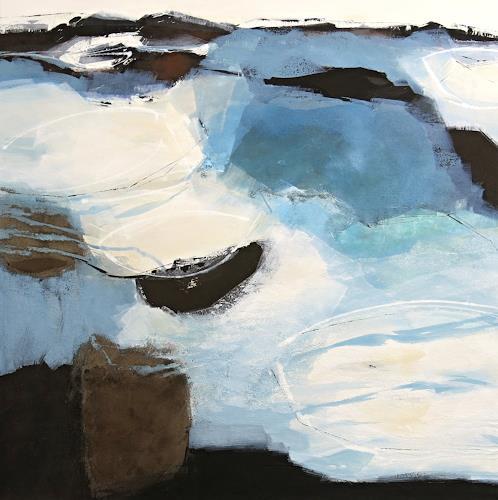 Renate Migas, Alles im Fluss, Natur: Wasser, Poesie, Gegenwartskunst, Expressionismus