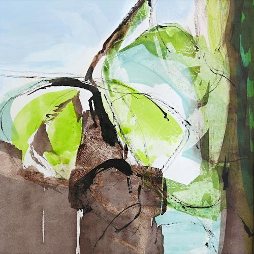 Renate Migas, first green, Landschaft: Frühling, Poesie, Gegenwartskunst, Expressionismus