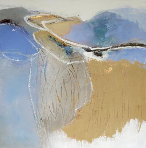 Renate Migas, Tanz des Windes, Landschaft: Sommer, Poesie, Gegenwartskunst, Expressionismus