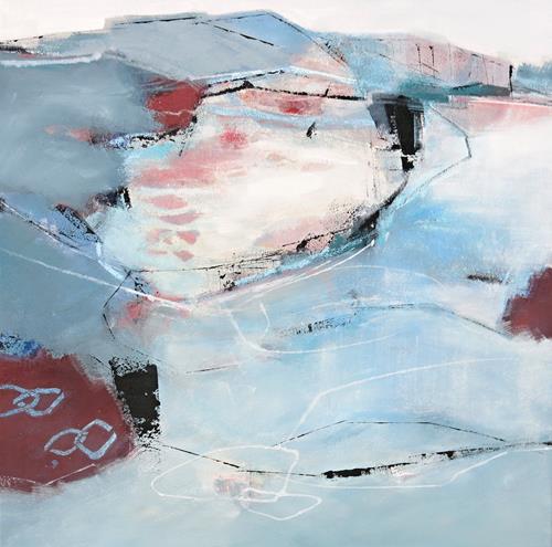 Renate Migas, fragiler Hauch, Landschaft: See/Meer, Symbol, Gegenwartskunst, Expressionismus