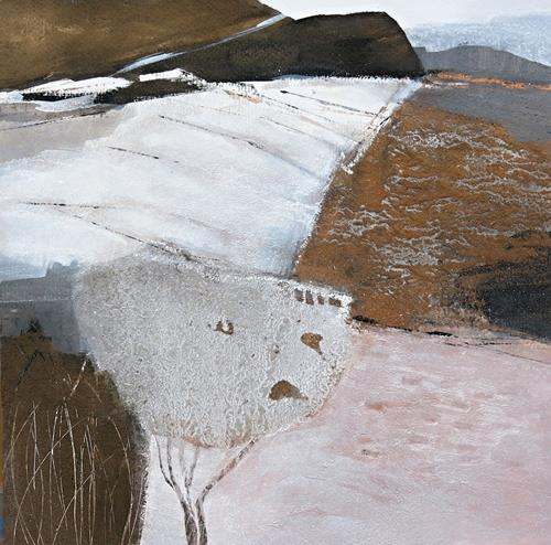 Renate Migas, Winter time/6, Landschaft: Winter, Poesie, Gegenwartskunst, Expressionismus