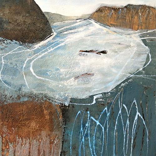 Renate Migas, 4er-Serie-winter time, Landschaft: Winter, Poesie, Gegenwartskunst, Abstrakter Expressionismus