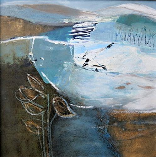Renate Migas, 4er-Serie-winter time, Landschaft: Winter, Poesie, Gegenwartskunst