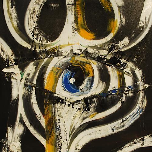 Martin Kopp-Vince, Auge des Schwarzen Loches, Abstraktes, Gegenwartskunst, Abstrakter Expressionismus