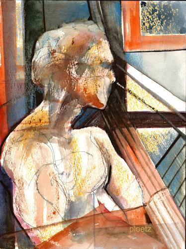 Elena Ploetz, Contemplation, Menschen: Mann, Abstrakter Expressionismus