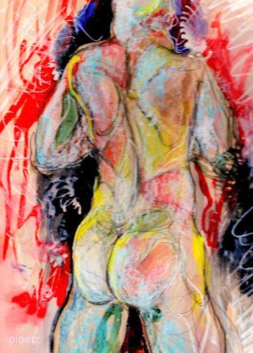 Elena Ploetz, Strong, Akt/Erotik: Akt Mann, Menschen: Mann, Gegenwartskunst, Abstrakter Expressionismus