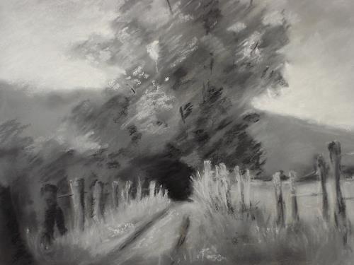 Kerstin Weber, Lanschaft schwarz/weiß, Diverse Landschaften, Expressionismus