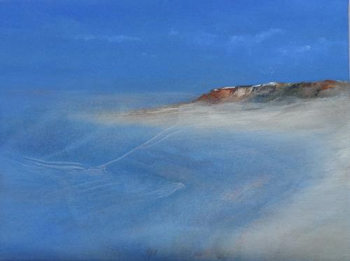 Kerstin Weber, abstrahierte Landschaft, Landschaft: See/Meer, Gegenwartskunst