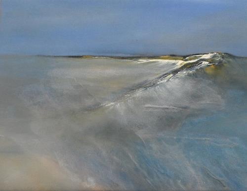 Kerstin Weber, abstrahierte Landschaft, Landschaft: See/Meer, Gegenwartskunst, Expressionismus
