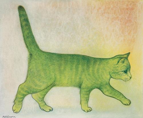 Hans Rüttimann, Grüne Katze, Tiere: Land, Surrealismus