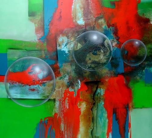 Thomas Böhm, O.T., Abstraktes, Abstrakte Kunst, Abstrakter Expressionismus