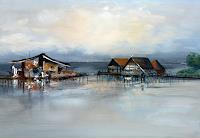Elke-Andrea-Strate-Landschaft-See-Meer-Abstraktes-Moderne-Moderne