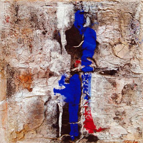 Elke Andrea Strate, Im Zentrum blau, Abstraktes, Informel