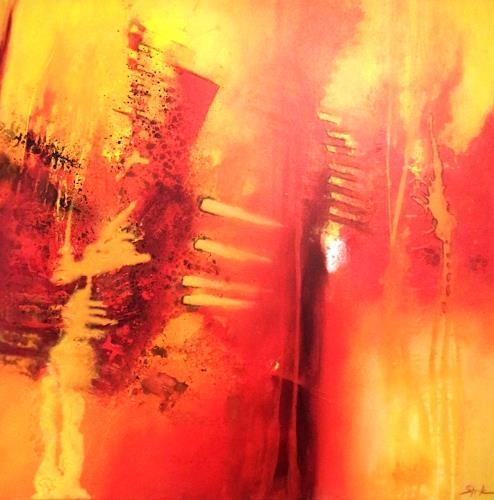 Elke Andrea Strate, Zyklus Emotionen II, Abstraktes, Gegenwartskunst