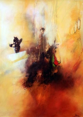 Elke Andrea Strate, Respekt, Abstraktes, Gegenwartskunst, Abstrakter Expressionismus