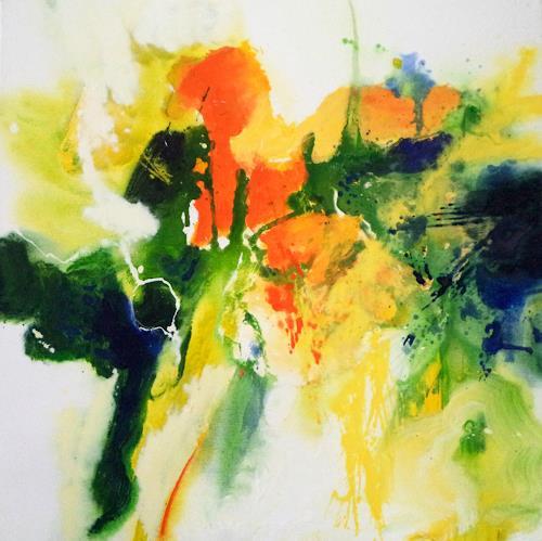 Elke Andrea Strate, Frühlingsgefühle II, Abstraktes, Abstrakter Expressionismus