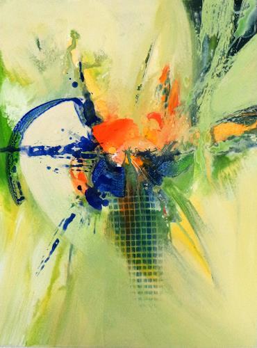 Elke Andrea Strate, Frühlingsgefühle I, Abstraktes, Abstrakter Expressionismus
