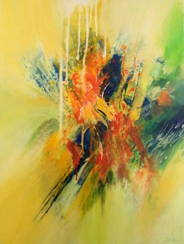 Elke Andrea Strate, Frühlingsgefühle III, Abstraktes, Abstrakter Expressionismus