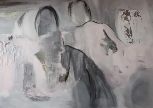 Karin Kölli, Vernetzt, Abstraktes, Menschen, Abstrakte Kunst